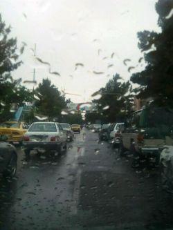 امروز همش رانندگی کردم زیر باروون.
