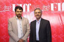 اینجانب فرزین با دکتر سید محمد صادق مرکبی در سی و ششمین جشنواره جهانی فیلم فجر
