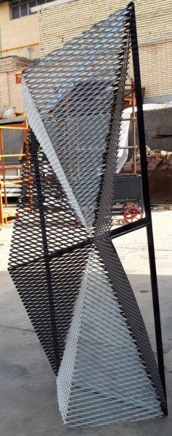 نمونه کوچک طراحی شده جهت ساخت نما سه بعدی با استرچ متال در ابعاد بسیار بزرگ.+استرچ متال+توری کششی