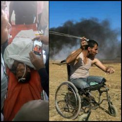 صاحب این عکس معروف امروز به شهادت رسید رژیم صهیونیستی در غزه حمام خون راه انداخته و تا کنون بیش از ۴۵ فلسطین را به شهادت رسونده...