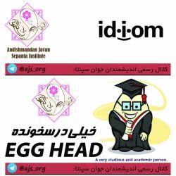 #idiom #اصطلاح #خیلی_درسخون #egg_head #اندیشمندانه_انتخاب_کنید #choose_wisely @ajs_org