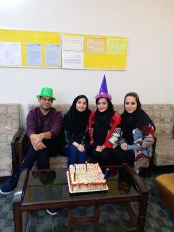 جشن تولد متولدین فروردین ماه/ مدرسین عزیز خانم ها #حجگذاری، #امینی و آقای #صدرزاده و کارمند عزیز خانم روحی