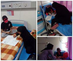 معلمان داوطلبی که با حضور در بیمارستان بقایی اهواز به طور رایگان تدریس میکنن تا بچه ها بعد از بهبودی ازسرطان از بقیه ی دانش اموزان عقب نمانند