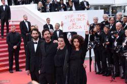 استقبال از اعتراض بازیگر زن به کشتارهای غزه در جشنوارهی کن