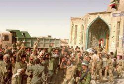 شادی رزمندگان سوم خرداد سال ۶۱ آزادسازی خونین شهر.مسجد جامع