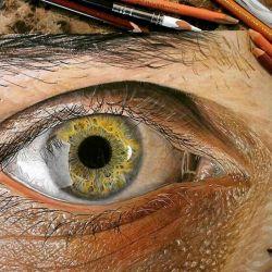نقاشی چشم سبک هایپر رئال