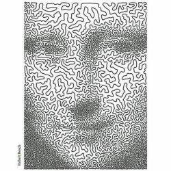 در ابتدا شاید متوجه هنر خالق این اثر نشوید ، اما سختی کار را زمانی میبینید که بدانید این اثر فقط با یک خط ممتد ساخته شده است!