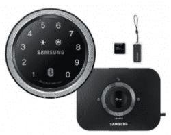 www.samsunglock.support تلفن : 09380941398 SHP-DS700 SAMSUNG قفل هوشمند سامسونگ مدل SHP-DS700 را می توان توسط گجت های پوشیدنی مانند ساعت هوشمند از راه دور کنترل و درب را باز و بسته نمود.