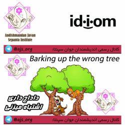#idiom #اصطلاح #barking_up_the_wrong_tree #داداچ_داری_اشتباه_میزنی #اندیشمندانه_انتخاب_کنید #choose_wisely @ajs_org