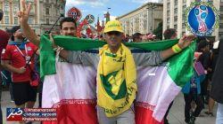 حضور هواداران صنعت نفت ابادان در مسکو و حمایت از تیم ملی مون .ندیدم مثل خودمون