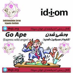 #idiom #اصطلاح #go_ape #express #wild_anger #وحشی_شدن #کنایه از #عصبانیت_شدید #اندیشمندانه_انتخاب_کنید #choose_wisely @ajs_org