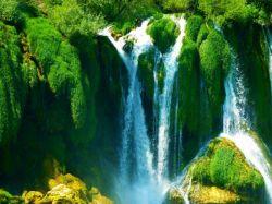 """آبشار هم با تمام زیبایی و اقتدارش برای رسیدن به """"مقصود""""فرو میریزد  گاهی باید درخود شکستن را تجربه کرد تابه دریا رسید  افتادگی آموز اگرطالب فیضی هرگز نخورد آب، زمینی که بلند است."""