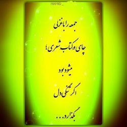 جمعه را با غزلی ، چای وُ کتابِ شعری ؛  میشود بود اگر تنگیِّ دل ، بگذارد...
