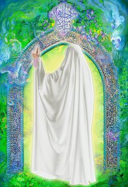 پوستر بهشت حجاب فاطمی، تقدیم به سرچشمه حجاب و عفاف، مادر عالمین، انسیة الحوراء، حضرت فاطمه زهرا (سلام الله علیها)