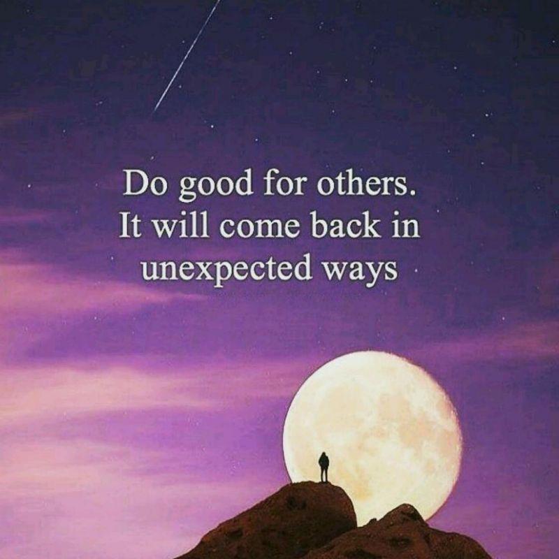 به دیگران خوبی کن؛ چون از راه هایی که فکرشم نمیکنی بهت برمیگردن...
