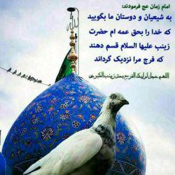 اللهم عجل لولیک الفرج بحق زینب الکبری