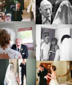 چندتا عکس فوق العاده از لحظاتی که پدرها برای اولین بار دخترشون رو تو لباس عروس میبینن ♥_♥