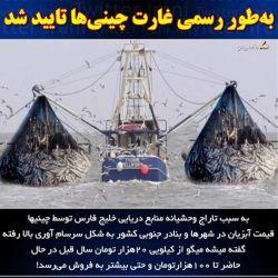 """حضور چینیها در آبهای جنوبی ایران تأیید شد: کشتیهای چین """"قرارداد رسمی اجاره بلند مدت"""" برای ماهیگیری در عمق ۲۰۰ متری آبهای ایران در دریای عمان دارند- معاون سازمان بنادر"""