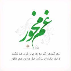 هر زمان فالی گرفتم #غم_مخور آمد ولی این امیدِ واهیِ #حافظ مرا دیوانه کرد ...  #دائما_یكسان_نباشد #غم_مخور #محمد_شیخی