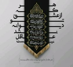 هر که از عشق تو دیوانه نشد عاقل نیست ایام سوگواری تسلیت باد #امام حسین (ع)#کربلا