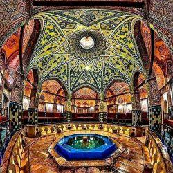 این مکان زیبا در واقع حمام سلطان امیر احمد در کاشانِ ☺❤️حروم این سلطان ملطانا ..چ خوشگل بوده(͡° ͜ʖ ͡°)  #ایران_زیبای_من