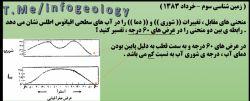 سوال امتحانی زمین شناسی سوم ( خرداد 1383 )
