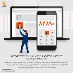 ❓نحوه فعال یا غیرفعال کردن دسترسی کاربر در بانکداری مجازی چگونه است؟