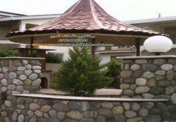 اجرا-آلاچیق-و دیوار نوع سنگ قلوه ای 09124867802-اجراع و نصب و فروش سنگ در پیمانکاری نادری ب تهیه مصالح لاععغععه