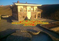نماری سنگ لاشه ساختمان ویلا_09124867802اجرای نما_ورقه ای سنگ لاشه نادری باتهیه مصالح kkyt