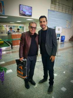 در کنار حمید لولایی عزیز  بنیامین طیب آهنگساز فرودگاه طبس بعد از برنامه