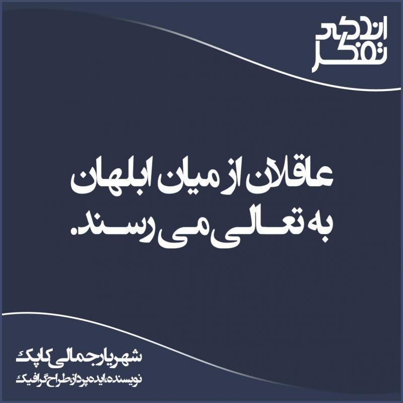 #عاقلان از میان #ابلهان به تعالی می رسند | شهریار جمالی کاپک