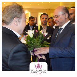 هتل پارسیان آزادی همچنان میزبان روسای جمهور. اقامت برهم صالح، رئیس جمهور عراق، و هیئت همراهشان در هتل پارسیان آزادی، آبان نود و هفت.
