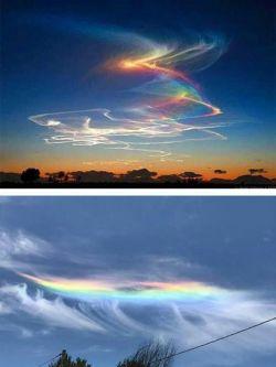 همه ما رنگین کمان رو به شکل نیم دایره میشناسیم اما پدیده ای جالب بنام رنگین کمان شعله ور هم وجود داره رنگینکمان شعله ور، پدیدهی کمیابی است که علت آن، عبور نور آفتاب، از میان ابر در ارتفاع زیاد هستش