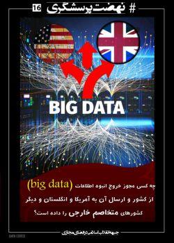 #سؤال شانزده  ⚠ چه کسی مجوز خروج انبوه #اطلاعات (Big Data) از #کشور و ارسال آن به #آمریکا و #انگلستان و دیگر کشورهای متخاصم خارجی را داده است؟!  ❌ #جهرمی را #استیضاح و #محاکمه کنید...  #نهضت_پرسشگری