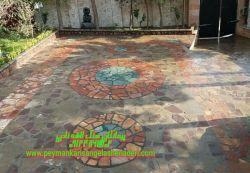 """نصب وفرش طرح دار و رنگهای سنگ ورقه ای 09124867802""""""""""""اجرا لاشه کاری توسط سنکاری_نادری با سنگ http://Www.peymankarisangelashenaderi.com"""