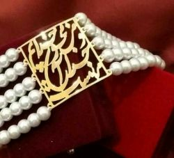 نظرتون؟؟ دستبند شعر دخترونه. روکش طلا هم هسش