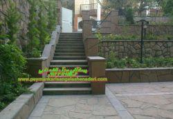 نصب  کاری پله و دیوار قرنیز