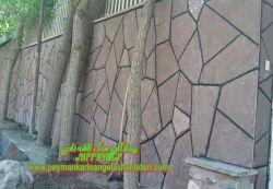 لاشه چینی _ دیوار سنگ روقه ای_ بصورت_ برشی-09124867802_نصب و اجرا توسط _ لاشه کار های