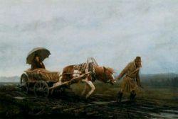 چرخِ یک گاری در حسرت واماندنِ اسب اسب در حسرت خوابیدنِ گاریچی مردِ گاریچی در حسرتِ مرگ!
