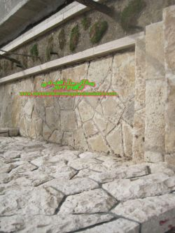 رش.کف و اجراع دیوار سنگ مالون-یا سنگ سفید کردستان ورقه ای