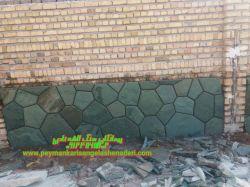 قیمت-اجرا وفروش-سنگ سبز-بصورت-برشی-و تیشه ای برای کف و رمپ-و دیوار-و پله -و نما-و غیره