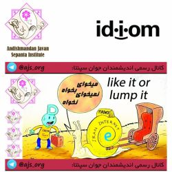 #idiom #اصطلاح #like_it_or_lump_it #میخوای_بخواه_نمیخوای_نخواه #choose_wisely #اندیشمندانه_انتخاب_کنید @ajs_org