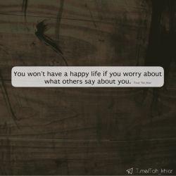 هیچوقت زندگیِ شادی رو نخواهی داشت ، اگر که نگرانِ حرفِ مردم نسبت به خودت باشی ☺️❤️