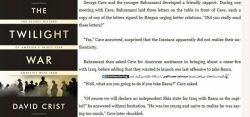 """برادرزاده هاشمی، سرنخ جدید لو رفتن عملیات کربلای چهار! جورج کِیو (مامورCIA) در کتاب The Twilight War  از ملاقاتش با علی هاشمی بهرمانی (برادرزاده رئیس وقت جنگ در ایران) چند ماه قبل از  کربلای چهار در واشنگتن اینگونه میگوید: """"بهرمانی از تصمیم ایران برای حمله نهایی به بصره خبر داد....و البته جوان تر خام تر از آن بود که بفهمد دارد زیادی حرف میزند!""""جنبش مصاف @Masafiranian"""