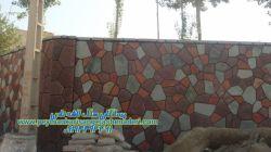 اجرا-قرنیز و ستون و دیوار به طور فرزی دیوار باغ:09124867802-
