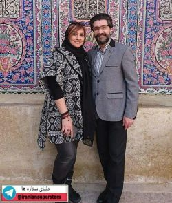 امیرحسین مدرس و همسرش