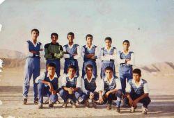 تیم فوتبال شهید مدنی روستای شرفویه فارس در سال ۱۳۶۵...ایستاده از سمت چپ خودم