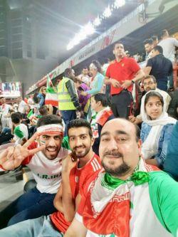 حضور تماشاگران شرفویی در بازی تیم ایران ـ چین در امارات
