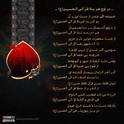 در اوج هر بلا فرّ الی الحسین(ع)...