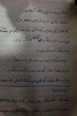 ی برنامه روزانه واسه رژیم لاغری .که یکی از دوستام واسم نوشت.ی مدت دارم چاق میشم .فقط دستخطش منو کشته